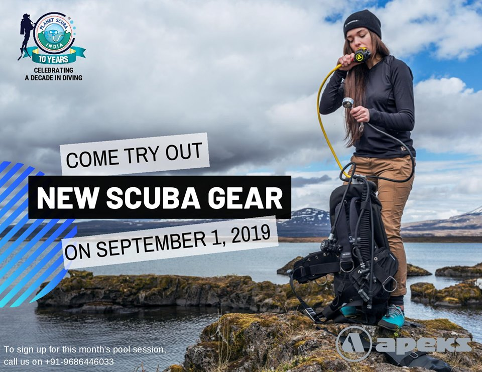 try out scuba gear at planet scuba india